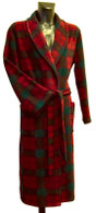 Scottish tartan fleece dressing gown by Lloyd Attree & Smith