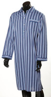 Men's striped cotton nightshirt
