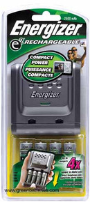 Energizer slider charger for AA & AAA Rechargeable NiMH batteries with 4 - 2300mAh AA NiMH batteries
