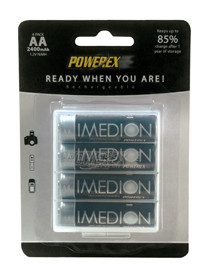 Maha 2400 mAh AA ULSD NiMH Imedion battery - 4 pack