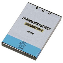 Li-ion replacement battery for Casio NP-20 - 3.7v 630mAh