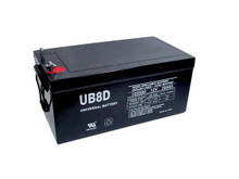 Sealed Lead Acid Battery - UB-8D AGM - 12v 250Ah