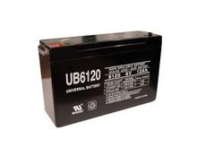 Sealed Lead Acid Battery - UB6120 - F2 type terminal - 12Ah 6v