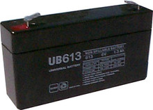 Sealed Lead Acid Battery - UB613 - 1.3Ah 6v