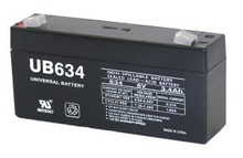 Sealed Lead Acid Battery - UB634 - 3.4Ah 6v