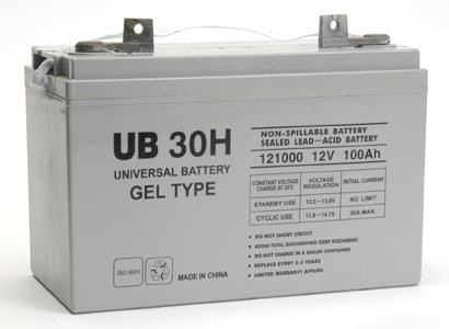 sealed lead acid battery ub 30h gel 12v 100ah. Black Bedroom Furniture Sets. Home Design Ideas