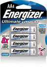 Energizer e2 Lithium, Size AA, 8 pack - non-rechargeable, single use batteries.