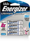 Energizer e2 Lithium, Size AAA, 4 pack non-rechargeable, single use batteries.