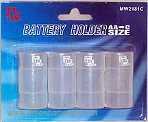 Battery Adapter - Converter AA to C - set of 4