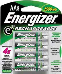 Energizer Rechargeable NiMH batteries, Size AA, 8 pack - 2300 mAh