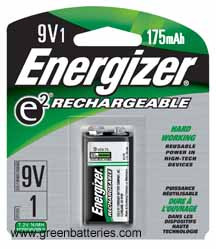 Energizer e2 Rechargeable, Size 9V, 1 pack