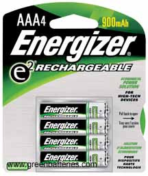 Energizer e2 Rechargeable, Size AAA, 4 pack