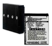 Li-ion Replacement Battery for GoPro AHDBT-001 type batteries