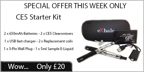 Ce5 starter kit, £20 this week only.