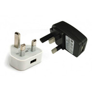 USB to UK 3Pin Mains Adapter Plug