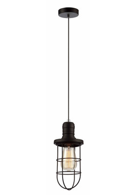 Blackband E27 pendant - Iron Cage Black Curved