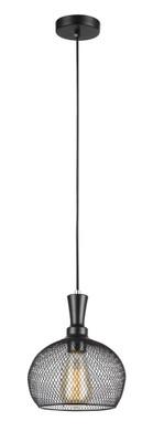 Pendant Lights | CHEVEUX Series: E27 Pendant Light - Black Dome Cage