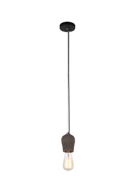 Pendant Lights | PEN-STONE: E27 pendant light - Iron and Cement