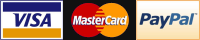 Payment by Visa, Mastercard and PayPal