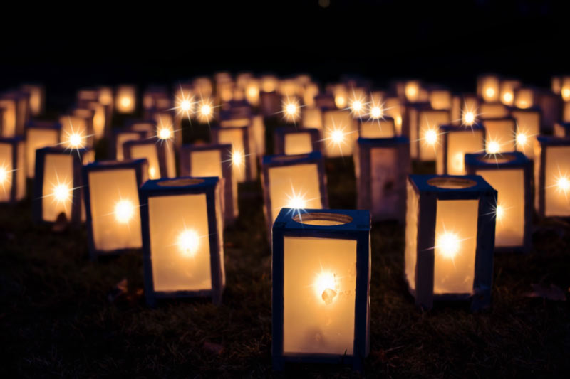 Christmas luminaries night