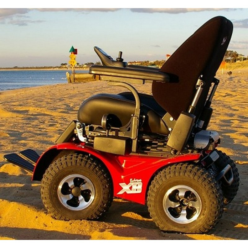 X8 4x4 extreme all terrain power wheelchair by innovation for All terrain motorized wheelchairs
