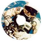 Wheelchair Hubcaps, AB21 - Spoke Guard Art Fun- Astronaut