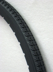 24x1 Dark Grey Urethane Snap-on Street Tire Fits Most