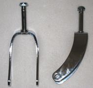"""8"""" Chrome Caster Fork FitsInvacare"""