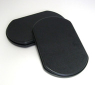Black PLASTIC Calf Pads Pair, Universal Fit