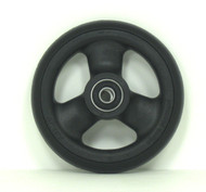 Pair,  4X1 Caster Wheels With Hollow Spokes and Bearings