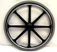 22X1 3/8 Rear Mag Wheels with Urethane Tires