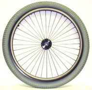 "24x2.125"" Radial 36 Spoke Wheel with 3"" Flanged Hub"