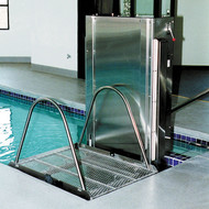 Spectrum Aquatics - Glacier Water Powered Platform Pool Lift - 600 lbs - ADA compliant