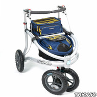 "Trionic Veloped - Trek 2017 - Walker Rollator- 12"" tires- Navy # 11-00-110"