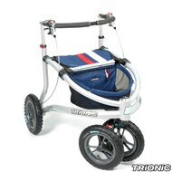 "Trionic Veloped - Sport 2017 - Walker Rollator- 12"" tires- Navy # 11-00-104"