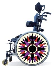 Wheelchair Spoke Guard Covers-Compass
