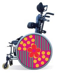 Wheelchair Spoke Guard Covers-Flower Power