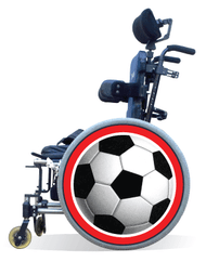 Wheelchair Spoke Guard Covers-Soccer