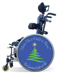 Wheelchair Spoke Guard Covers-Christmas Tree