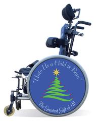 Wheelchair Spoke Guard Covers-Christmas Tree