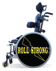 Wheelchair Spoke Guard Covers-Roll Strong