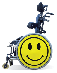 Wheelchair Spoke Guard Covers-Smiley Face