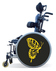 Wheelchair Spoke Guard Covers-Yellow Butterfly