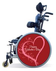 Wheelchair Spoke Guard Covers-Valentine's