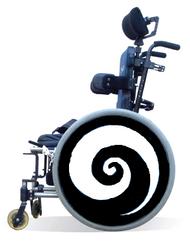 Wheelchair Spoke Guard Covers-Black Swirl