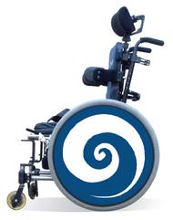 Wheelchair Spoke Guard Covers-Blue Swirl