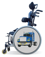 Wheelchair Spoke Guard Covers-Blue Truck