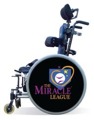 Wheelchair Spoke Guard Covers-Miracle League Black