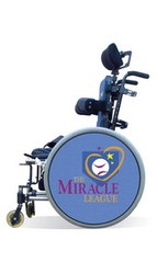 Wheelchair Spoke Guard Covers-Miracle League Denim