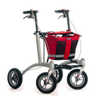 "Veloped Rollator Walker 9er- 9"" tires- Red/ Black"